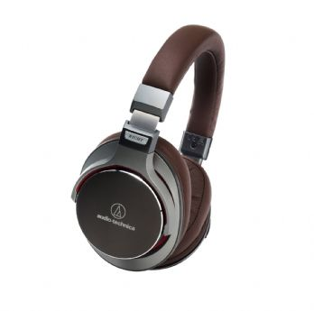 Audio Technica ATH-MSR7GM Portable Sonic Headphones with mic Gunmetal